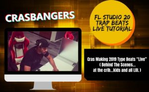 """Cras Making 2019 Type Beats """"Live"""" ( Behind The Scenes…at the crib…kids and all LOL )"""